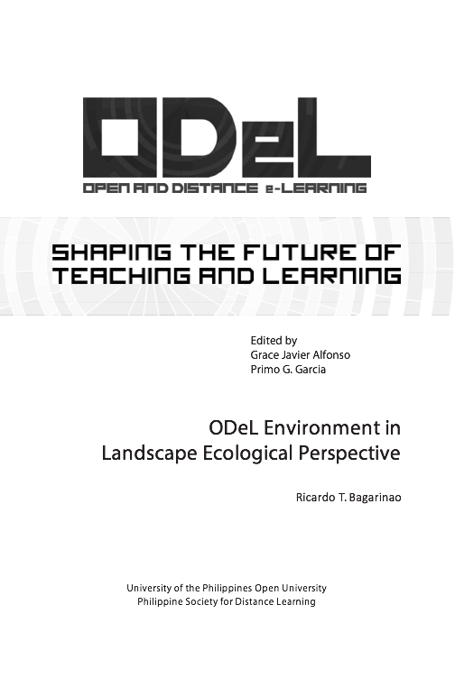 ODeL Environment in Landscape Ecological Perspective | Dr. Ricardo Bagarinao