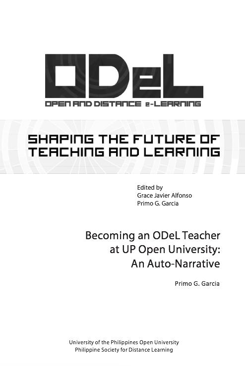 Becoming an ODeL Teacher at UP Open University: An Auto-Narrative