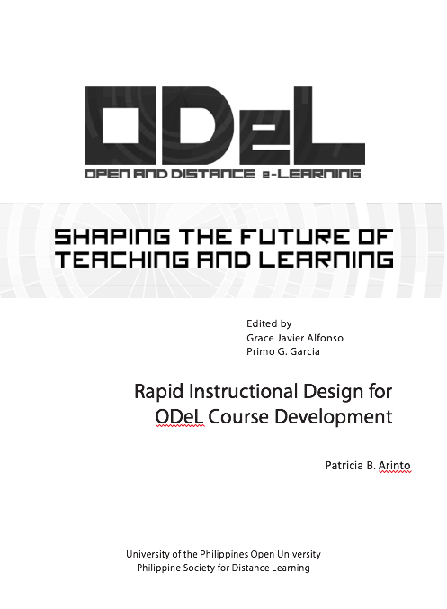 Rapid Instructional Design for ODeL Course Development | Dr. Patricia Arinto