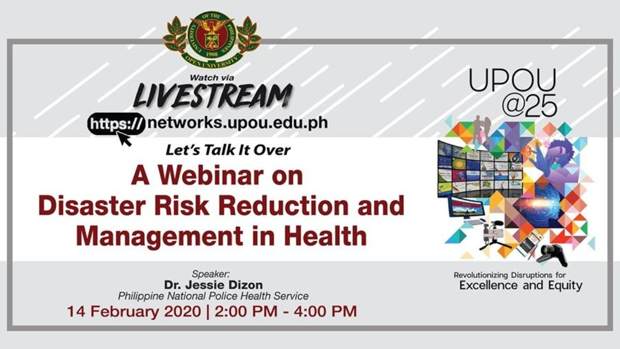 A Webinar on Disaster Risk Reduction and Management in Health