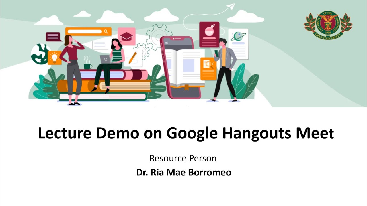 Lecture Demo on Google Hangouts Meet | Dr. Ria Mae Borromeo
