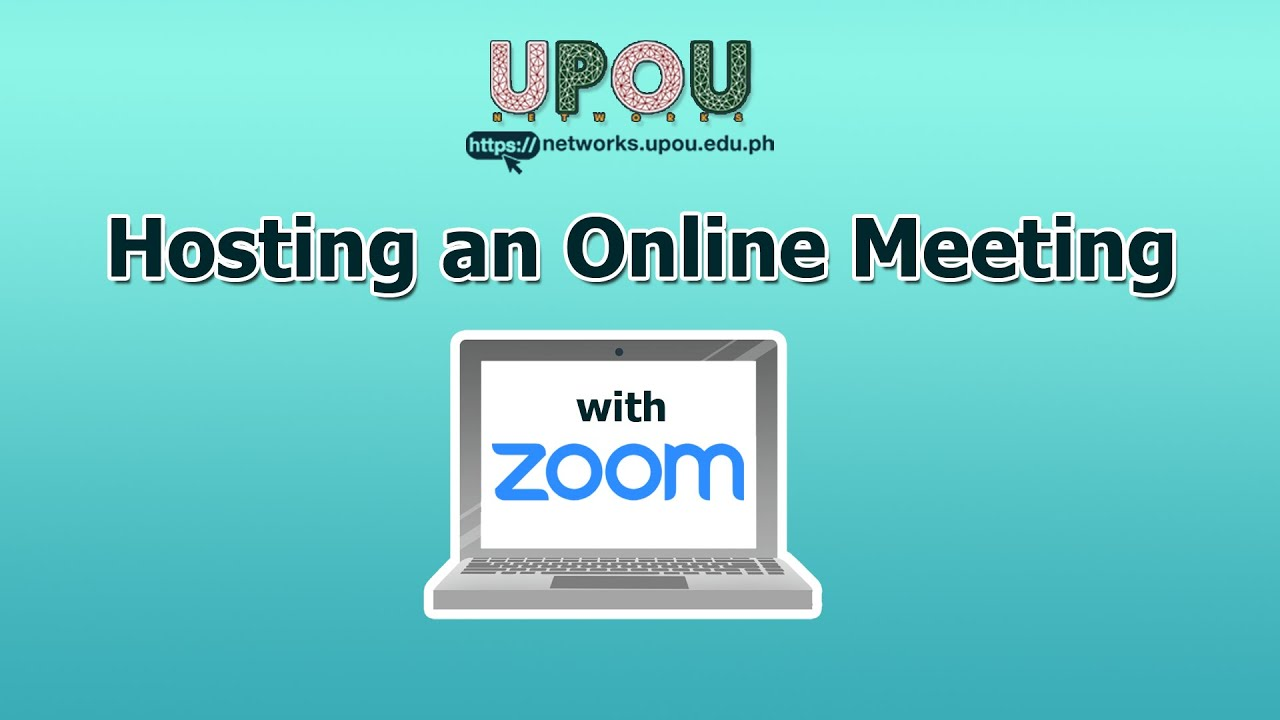 Hosting an Online Meeting via Zoom App