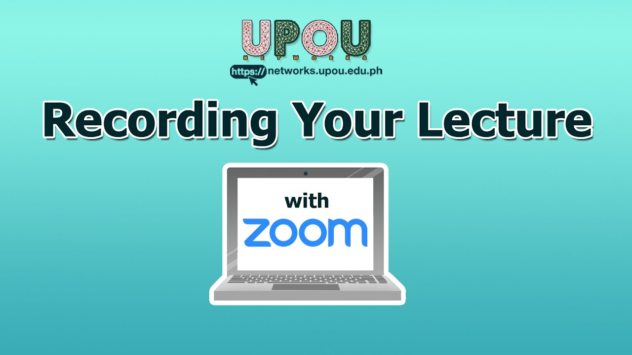 Recording a Video Lecture Using Zoom