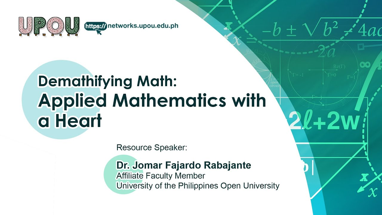 Applied Mathematics with a Heart | Dr.  Jomar Fajardo Rabajante