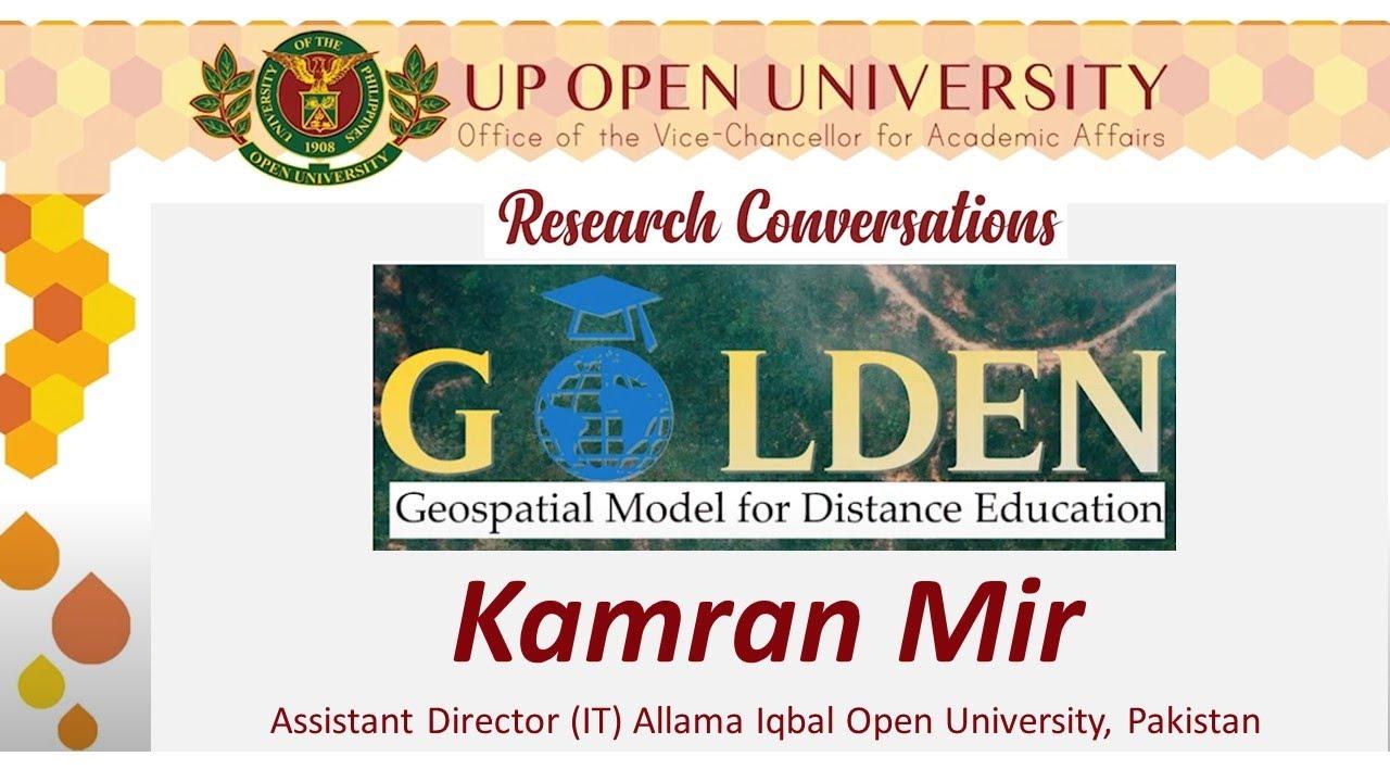 Geospatial Model for Distance Education   Kamran Mir