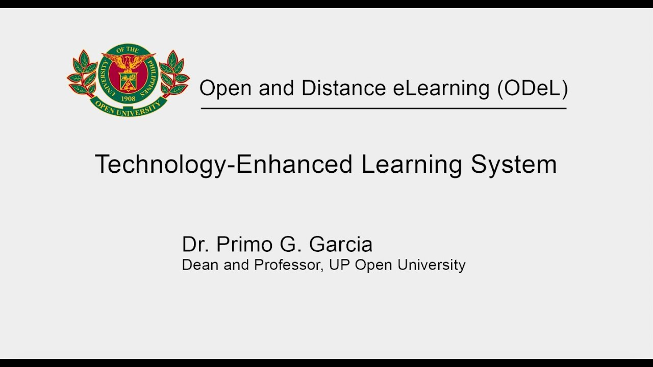 Technology Enhanced Learning System   Dr. Primo G. Garcia