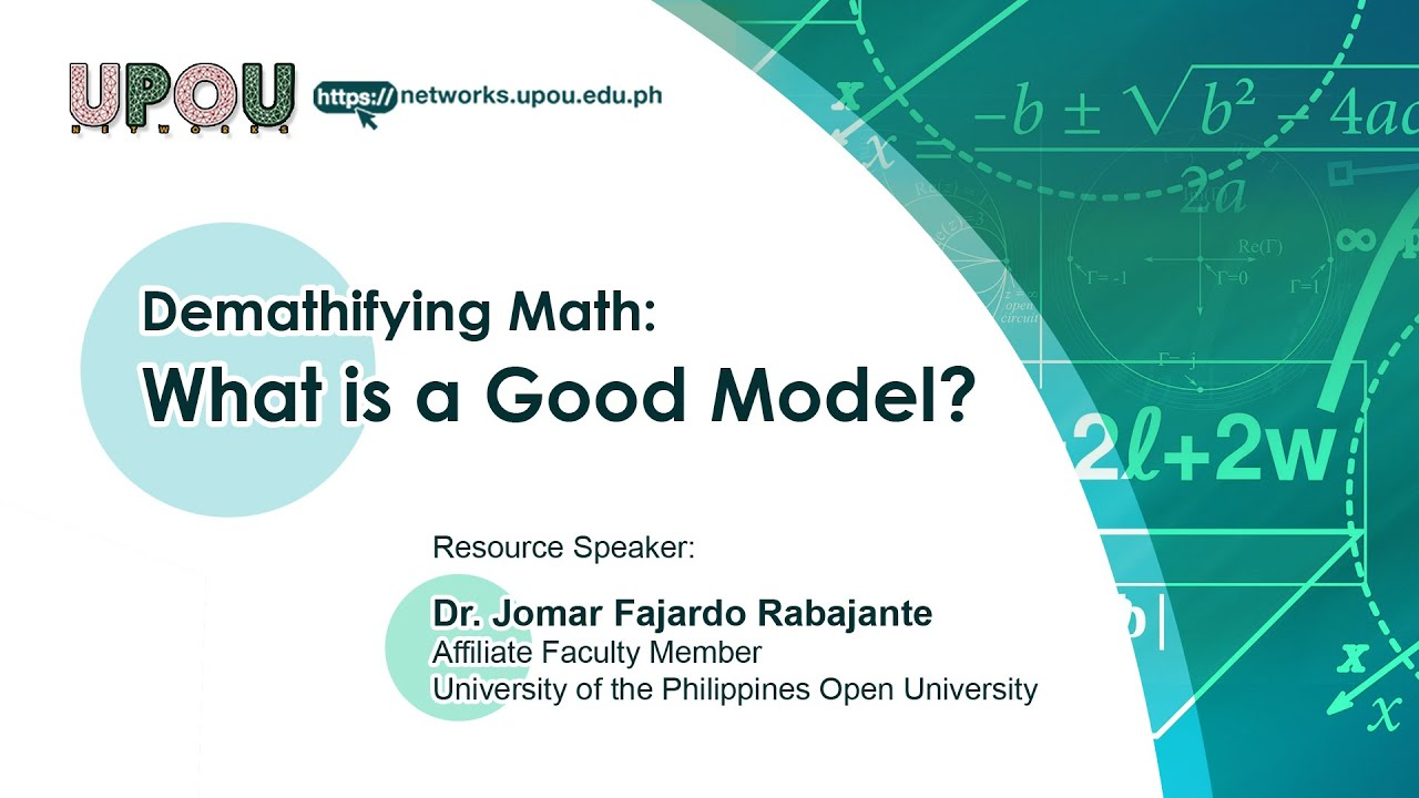 What is a Good Model | Dr.  Jomar Fajardo Rabajante
