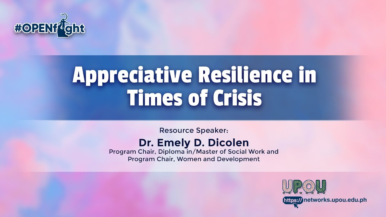 Appreciative Resilience in Times of Crisis | Dr.  Emely D. Dicolen