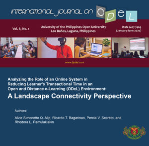 Analyzing the Role of an Online System in Reducing Learner's Transactional Time in an Open and Distance e-Learning (ODeL) Environment: A Landscape Connectivity Perspective