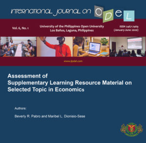 Assessment of Supplementary Learning Resource Material on Selected Topic in Economics