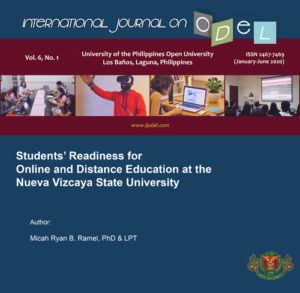 Students' Readiness for Online and Distance Education at the Nueva Vizcaya State University