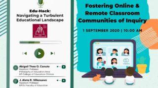 Edu-Hack: Fostering Online & Remote Classroom Communities of Inquiry
