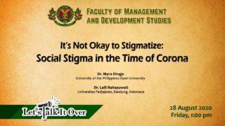 LTIO: It's Not Okay to Stigmatize: Social Stigma in the Time of Corona