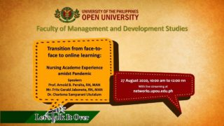 LTIO: Transition from face-to-face to online learning: Nursing Academe Experience amidst Pandemic