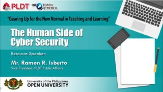 The Human Side of Cyber Security | Mr. Ramon R. Isberto