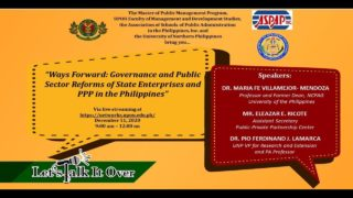 LTIO - Ways Forward: Governance and Public Sector Reforms of State Enterprises and PPP in the Philippines
