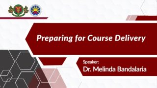Preparing for Course Delivery | Dr. Melinda dP. Bandalaria