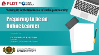 Preparing to be an Online Learner | Dr. Melinda dP. Bandalaria