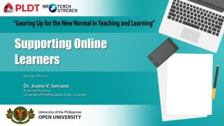 Supporting Online Learners | Dr. Joane V. Serrano