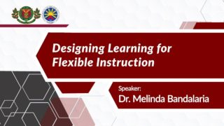 The Course Package: Designing Learning for Flexible Instruction | Dr. Melinda dP. Bandalaria