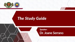 The Course Package: The Study Guide | Dr. Joane V. Serrano