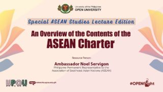 An Overview of the Contents of the ASEAN Charter | Ambassador Noel Servigon