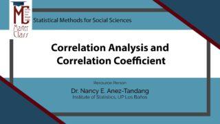 Correlation Analysis and Correlation Coefficient | Dr. Nancy E. Añez-Tandang