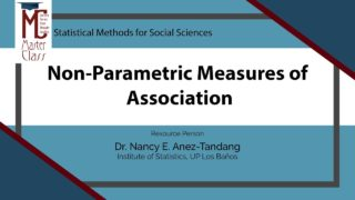 Non-Parametric Measures of Association | Dr. Nancy E. Añez-Tandang