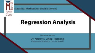 Regression Analysis | Dr. Nancy E. Añez-Tandang