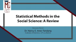Statistical Methods in the Social Science: A Review | Dr. Nancy E. Añez-Tandang