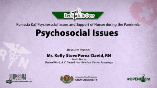 Psychosocial Issues | Ms. Kelly Steve Perez-David, RN