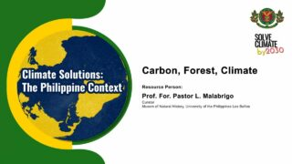 Carbon, Forest, Climate | Prof. and For. Pastor L. Malabrigo
