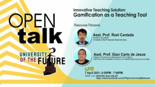 OPEN Talk - Innovative Teaching Solution: Gamification as a Teaching Tool
