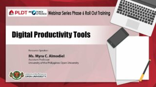Digital Productivity Tools | Ms. Myra C. Almodiel