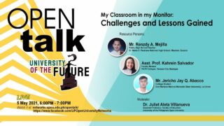 OPEN Talk - My Classroom in my Monitor: Challenges and Lessons Gained