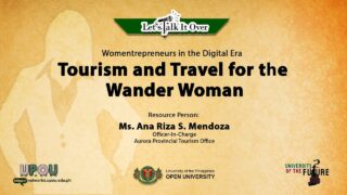 Tourism and Travel for the Wander Woman | Ms. Ana Riza S. Mendoza