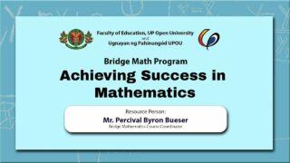 Achieving Success in Mathematics | Mr. Percival Byron Bueser