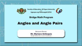 Angles and Angle Pairs | Mr. Mariano Antioquia