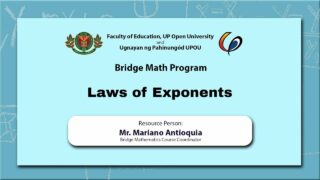 Law of Exponents | Mr. Mariano Antioquia