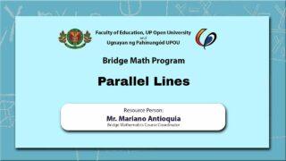 Parallel Lines | Mr. Mariano Antioquia