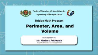 Perimeter, Area and Volume | Mr. Mariano Antioquia