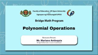 Polynomial Operations | Mr. Mariano Antioquia