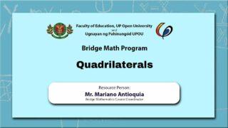Quadrilaterals | Mr. Mariano Antioquia