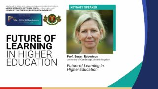 Future of Learning in Higher Education | Prof. Susan Robertson