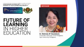 Future of Learning in Higher Education: Opening Remarks | Dr. Melinda dP. Bandalaria