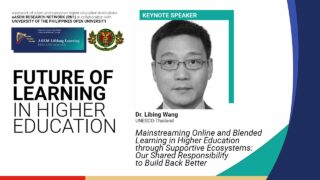 Mainstream Online and Blended Learning in Higher Education through Supportive Ecosystems: Our Shared Responsibility to Build Back Better | Dr. Libing Wang