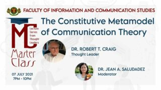 Masterclass: The Constitutive Metamodel of Communication Theory