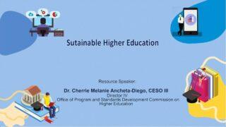 Sustainable Higher Education | Dr. Cherrie Melanie Ancheta-Diego