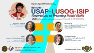 The Ledivina V. Cariño Forum Series - Usap-Lusog-Isip: Conversations on Promoting Mental Health