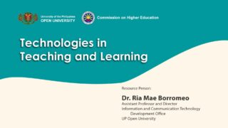 Technologies in Teaching and Learning | Dr. Ria Mae Borromeo